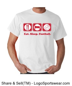 eat sleep football Design Zoom